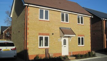 Last plot remaining at Abrams Place at Ranelagh Road in Havant.